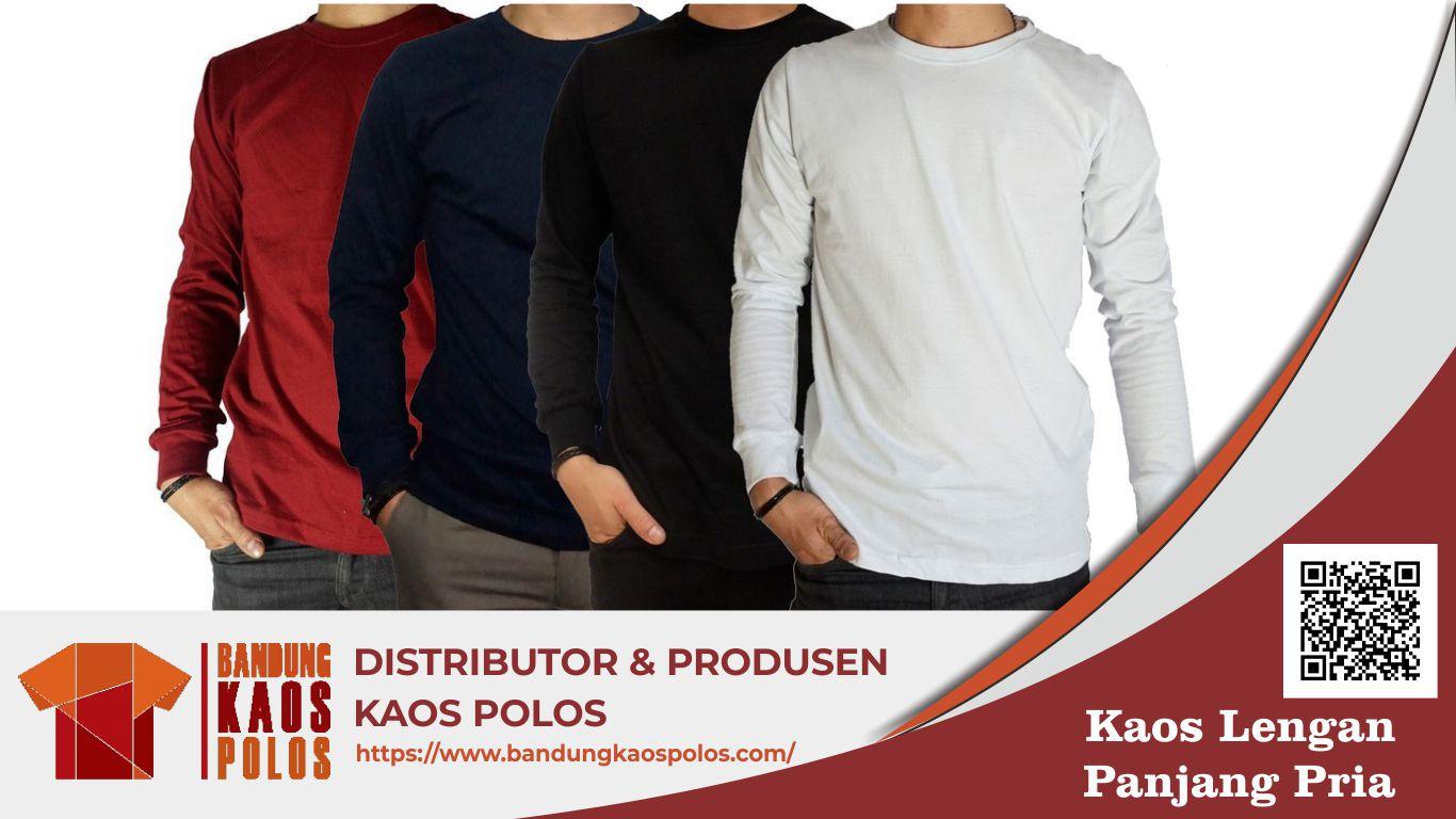 Kaos Lengan Panjang Pria Berkualitas dan Awet Produksi BKP