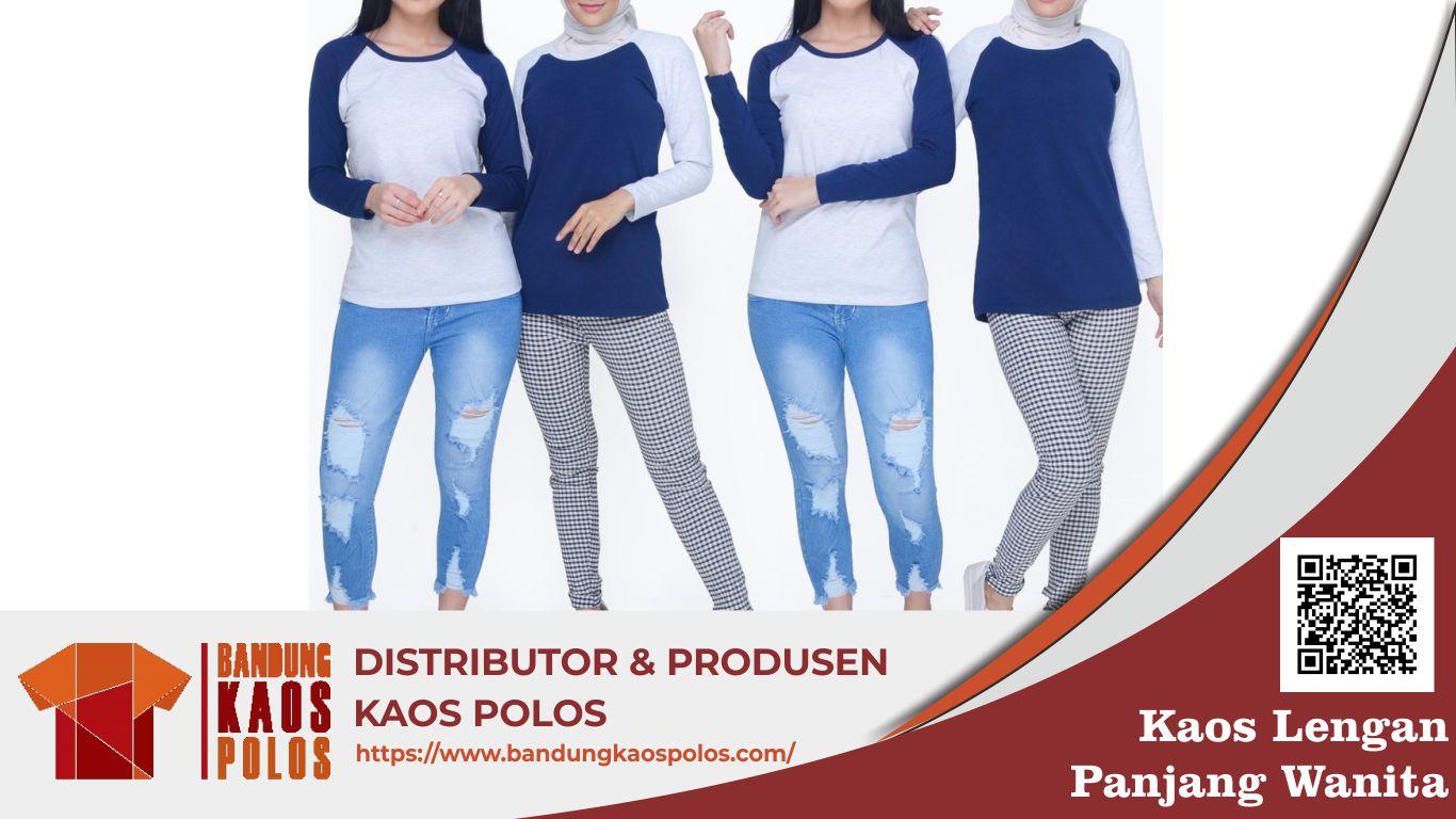 Kaos Lengan Panjang Wanita Berkualitas dan Awet Produksi BKP