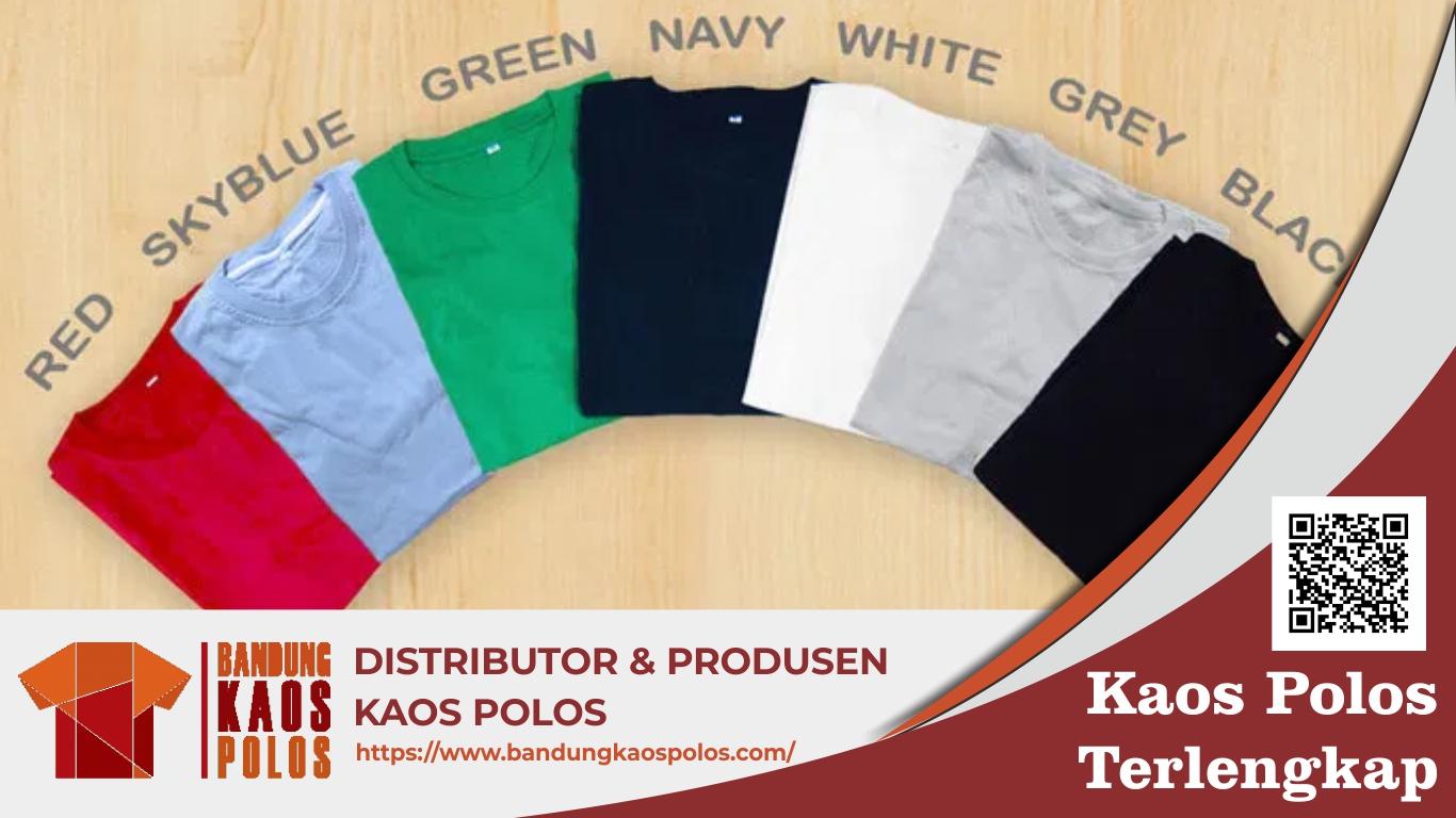 Kaos Polos Berkualitas dan Awet Digunakan